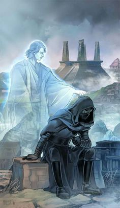 I would love to see Anakin trying to bring Kylo Ren back to the light