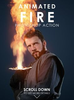 Animated Fire Photoshop Action — Photoshop ATN #fire #video • Download ➝ https://graphicriver.net/item/animated-fire-photoshop-action/19171775?ref=pxcr