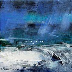 Patricia Sadler seascape — Rhythm of the Waves 1 Abstract Portrait Painting, Abstract Landscape Painting, Abstract Canvas, Landscape Art, Landscape Paintings, Portrait Paintings, Blue Abstract, Seascape Paintings, Acrylic Paintings