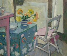 Still Life with Painted Chest. Anne Redpath