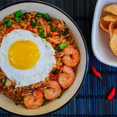 ... recipe kits Indonesian Nasi Goreng with Prawns, Egg and Prawn Crackers