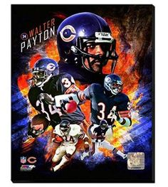 Walter Payton Canvas Framed Over With 2 Inches Stretcher Bars-Ready To Hang- Awesome & Beautiful