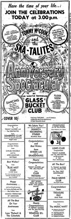 Happy anniversary to the Skatalites, 1965.