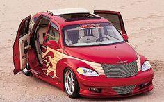 Cool Doors on this Chrysler PT Cruiser Chrysler Pt Cruiser, Pt Cruiser Accessories, American Legend, Cool Doors, Custom Vans, Cute Cars, My Ride, Cars Motorcycles, Automobile