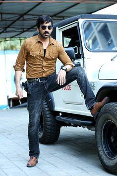 "Ravi teja in ""Touch Chesi Choodu"" Movie Telugu Hero, Ravi Teja, Actress Anushka, Movie Photo, Background For Photography, Hd Photos, Actors & Actresses, Superstar, Bollywood"