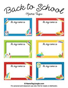 Free Printable Bookplates For The Kids Seattle Kids Starling - Locker tag templates