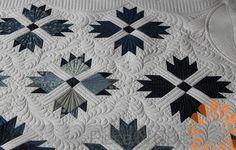 Bear Paw Quilt - Custom Machine Quilting by Natalia Bonner