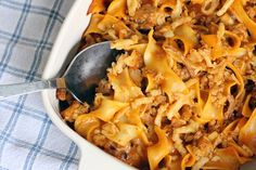 This hearty Crunchy Hamburger Casserole is the perfect pick for winter comfort food. #comfortfood --Photo Credit: Brenda Darroch