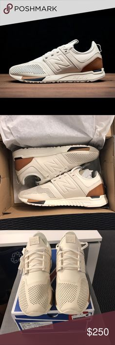 buy online 7beac e2b99 New Balance 247 Luxe White Sneaker Men s 9.5 NEW IN BOX New Balance 247  Luxe Cream