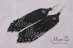 Black bead earrings by releaserevolverenew.deviantart.com on @deviantART