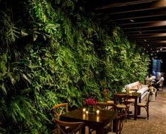 A decoradora Mariana Bassi assinou o décor do casamento de Thais e Thiago, que teve clima cool, lounges e mesas bistrô. O jardim vertical de samambaias ficou lindo! Veja mais: http://yeswedding.com.br/pt/antena-yes/post/fantasia-eterna