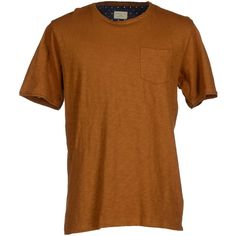 Selected Homme T-shirt ($35) ❤ liked on Polyvore featuring men's fashion, men's clothing, men's shirts, men's t-shirts, brown, mens cotton short sleeve shirts, mens brown shirt, mens pocket t shirts, mens double pocket short sleeve shirts and mens short sleeve t shirts