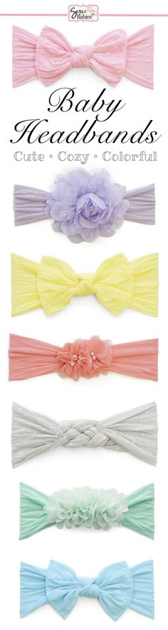 Browse the softest baby headbands around! With a selection like this, you are sure to find the perfect style and color for your baby girl!