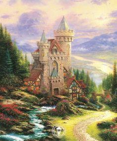 Guardian Castle by Thomas Kinkade  Thomas Kinkade passed away Friday,   4/6/12.  RIP