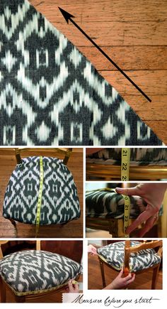 DIY upholstery, step by step instructions