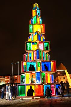 The Rakvere's 39-foot-tall, eco-friendly creation is made of 121 colored windows sourced from old houses.
