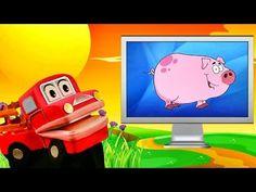 Barney el camion - Los animales de la granja - Video Educativo para niños #