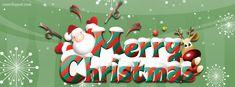 Merry Christmas Santa Reindeer Facebook Cover CoverLayout.com