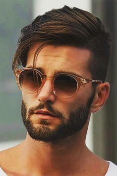 New haircut modern men facial hair ideas Mens Hairstyles With Beard, Cool Hairstyles For Men, Hairstyles Haircuts, Haircuts For Men, Sweet Hairstyles, Men Hairstyle Thick Hair, Mens Straight Hairstyles, Classic Mens Hairstyles, Trendy Mens Hairstyles
