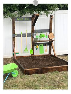 Excited to share this item from my shop: Bespoke mud pit play bench frames interactive play features Outdoor Learning Spaces, Kids Outdoor Play, Outdoor Play Areas, Kids Play Area, Backyard For Kids, Backyard Play Areas, Childrens Play Area Garden, Kids Outdoor Spaces, Kids Yard