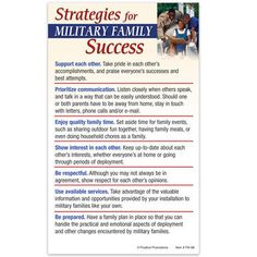 Strategies For Military Family Success Magnet  Item # FM-88E