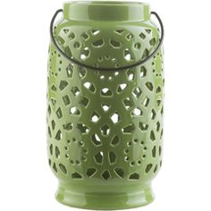 Imagine this Surya green ceramic lantern in your holiday space- available in a variety of shapes and colors! (AVR-926)