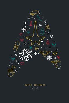 Star Trek: TOS and my favorite things Star Trek Wallpaper, Iphone Wallpaper, Star Trek Christmas, Christmas Art, Star Trek Quotes, Star Trek Into Darkness, Starship Enterprise, Star Trek Universe, Love Stars
