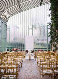 Glass House Wedding Ceremony | Alexander James Photography | See More! http://heyweddinglady.com/foodie-wedding-inspiration-with-botanical-details/