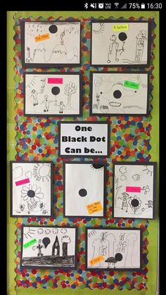 One Black Dot - The Dot by Peter H. Reynolds - Creating Art with Dots - Coffee . - Merys Stores - One Black Dot – The Dot by Peter H. Reynolds – Creating Art with Dots – Coffee … - Grade 1 Art, First Grade Art, First Grade Classroom, Art Classroom, First Grade Crafts, Classroom Ideas For Teachers, Year 2 Classroom, First Grade Projects, Fun Classroom Activities
