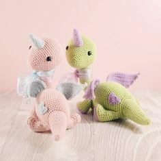 Amigurumi crochet doll - Daisy the Dinocorn PATTERN ONLY (English)