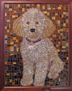 glass on glass, mosaic dog portrait..this looks like one of my babies! (My dogs)