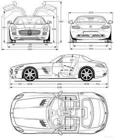 mercedes-benz-amg-sls-2011.png (2000×2421) #blueprints