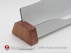 ZenziWerken | Flyer-Ständer mit Hartholz und Aludibond