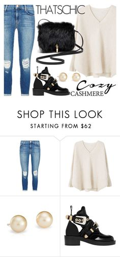 """""""Cozy chic"""" by beavoight ❤ liked on Polyvore featuring J Brand, MANGO, Blue Nile, Balenciaga and Elizabeth and James"""