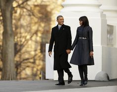The president and First Lady leave for the Inaugural Parade.