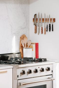 The stainless steel range is by NXR.