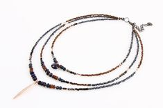 Nakamol Beaded Choker Necklace with Rose Gold