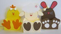 Tier-Oster-Körbchen Kücken, Häschen und Lamm Die Schneidedateien sind aus dem Sil-Store: chick belly box bunny bell...