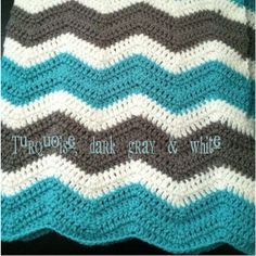 Customized Chevron Baby Blanket by cscinspirations on Etsy, $40.00
