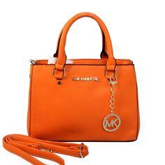Michael Kors Sutton Medium Orange Satchels only $71.99