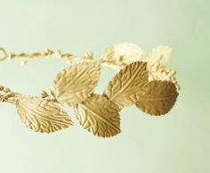 Gold leaf crown Golden leaves circlet Bridal by Lietofiore on Etsy, $60.00