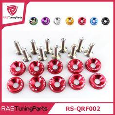10 pz/pacco jdm style alluminio fender rondelle e bulloni per honda civic integra rsx ek eg dc rs-qrf002