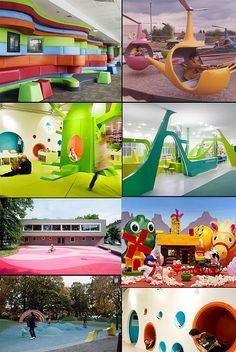 Indoor Playground For Kids – Playground Fun For Kids Play Spaces, Learning Spaces, Kid Spaces, Play Areas, Kids Learning, Playground Design, Indoor Playground, Atelier Architecture, Cool Playgrounds