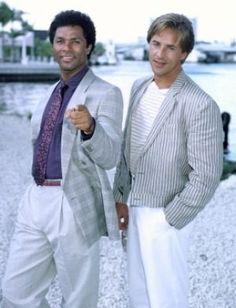 TV show fashion history - Miami Vice - Philip Michael Thomas and Don Johnson.jpg