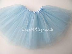 Light Blue Tutu Skirt Ballet Tutu with Belt Loop / NEXT DAY SHIPPING / Child Toddler Costume