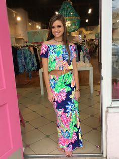 Mansi Set Travlers Palm  Pink Bee, The place to shop for Lilly Pulitzer Dresses, Sets, Tops, Pants, Shorts, accessories and shoes!