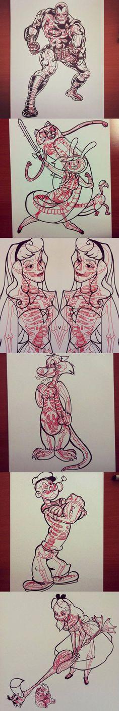 funny-Disney-book-colored-skeletons-Sleeping-Beauty