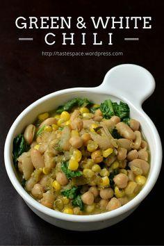 Green and White Chili Bowl + Vegan Bowls cookbook GIVEAWAY {vegan, gluten-free, recipe, dinner, healthy}