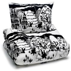 We have a great selection of bedroom items such as Moomin lamps and Moomin duvet covers in both black and white and color. Browse all Moomin bedroom products below. Kids Bed Linen, Bed Linen Sets, Linen Duvet, Double Duvet Covers, Single Duvet Cover, Duvet Cover Sets, Cover Pillow, Scandinavian Fabric, Scandinavian Kids