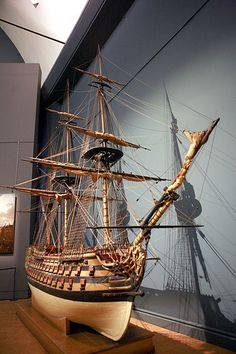 """Model of the """"Royal Louis."""""""